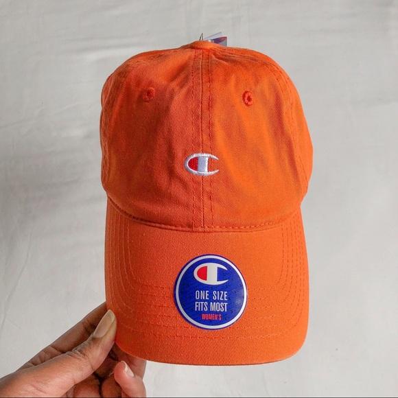 ec44a76d9cb25 Champion Orange Twill Baseball Cap Dad Hat. NWT